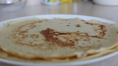 Hot pancakes - stock footage