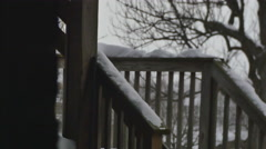 excessive snow on deck - stock footage