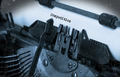 Old typewriter with paper - stock illustration