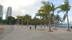 Bayfront Park in the afternoon, Miami, Florida Stock Footage