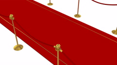 Red Carpet,White background Stock Footage
