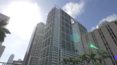 Downtown Miami - 500 Brickell Condos Miami Stock Footage