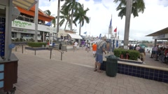 Visiting Bayside Marketplace, Miami, Florida Stock Footage