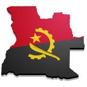 Map Angola Stock Illustration