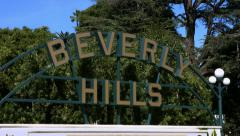 4K, UHD, Beverly Hills Sign, Famous landmark, Los Angeles, California Stock Footage