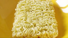 The process of preparation of the instant noodles - stock footage