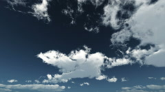Withe clouds blue sky time lapse Stock Footage