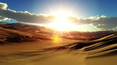 Fly over desert sunset Stock Footage