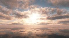 Sunset in sea Stock Footage