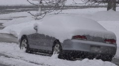Car Stuck in Snow Stock Footage