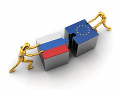 Russia and EU solution Stock Illustration