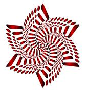 Red Blossom Blooming (motion illusion) Stock Illustration