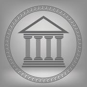 Greek temple - stock illustration