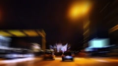 Traffic at Night - stock footage