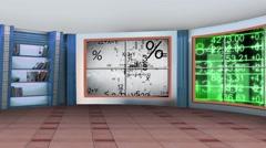 Stock Video Footage of Education TV Studio Set 03 - Virtual Green Screen Background Loop