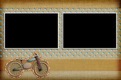 Decorative template with photo frames. Scrapbook, photobook concept Stock Illustration