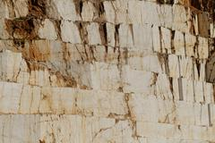 Photo of white marble quarry in Thassos, Greece Stock Photos