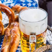 Homemade pretzels and bavarian beer Kuvituskuvat