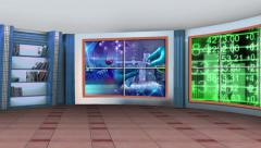Education TV Studio Set 04 - Virtual Green Screen Background Loop Stock Footage