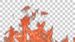 fire in the alpha channel - stock footage