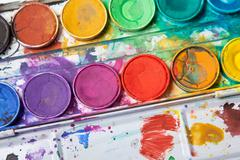 bright colors for watercolor painting - stock photo