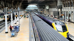 London Paddington station train railway network commuting Stock Footage