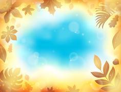 Leaves theme background 1 Stock Illustration