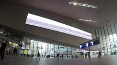 Rotterdam Central Train Station Interior (Editorial) Stock Footage