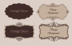 Stock Illustration of Decorative vintage frames and borders set vector