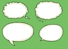 Various Empty Dialog Bubbles Stock Illustration