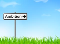 Ambition sign Stock Illustration