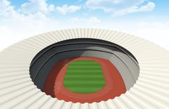 Athletics Stadium Day - stock illustration