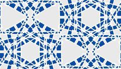 Blue Symmetrical Background Stock Illustration