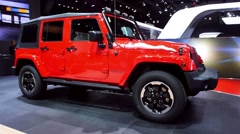 Stock Video Footage of Jeep Wrangler 4x4 off road vehicle