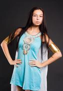 Pretty girl in Cleopatra role - stock photo