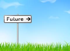 Future sign Stock Illustration
