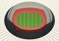 Athletics Stadium Day Stock Illustration