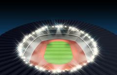 Athletics Stadium Night Stock Illustration