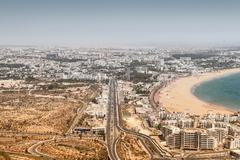 City view of Agadir, Morocco Stock Photos
