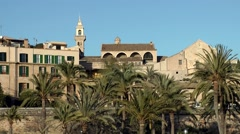 Spain Palma de Mallorca 058 cityscape of old district Dalt Murada Stock Footage
