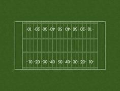 Football Field Layout - stock illustration
