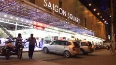 Saigon Square night timelapse Stock Footage