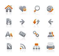 Web Navigation Icons // Graphite Series Stock Illustration