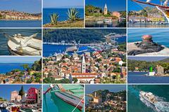 Stock Photo of Island of Losinj tourist destination collage