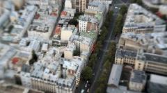 France Paris city street traffic vehicle building travel - stock footage