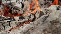 Fire and ash - stock footage