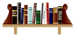 Genre Book Shelf Stock Illustration