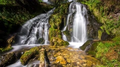 Waterfall landscape in the mountains using 4K Stock Footage