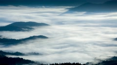 Fog in the mountains, close up, 4K Stock Footage