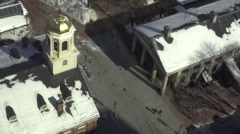 QUINCY MARKET FANEUIL HALL WINTER Stock Footage